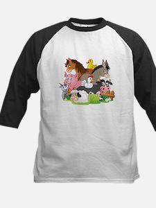 Cartoon Farm Animals Baseball Jersey