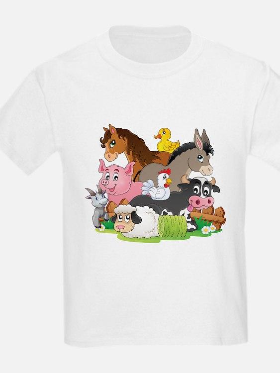 Cartoon Farm Animals T-Shirt