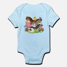 Cartoon Farm Animals Body Suit