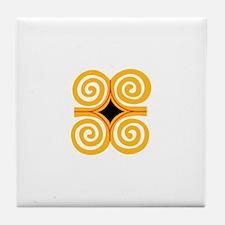 ADINKRA STRENGTH Tile Coaster