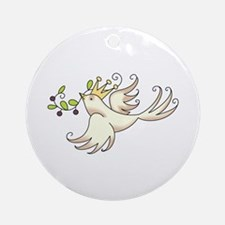COUNTRY WHIM DOVE Ornament (Round)