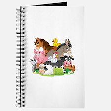 Cartoon Farm Animals Journal