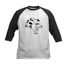 Cow Kicking Baseball Jersey