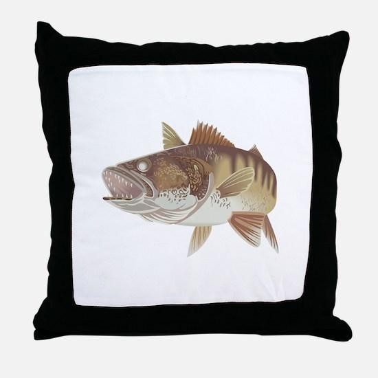 LARGE WALLEYE Throw Pillow
