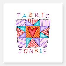 "Fabric Junkie Square Car Magnet 3"" x 3"""