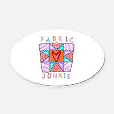 Fabric Junkie Oval Car Magnet