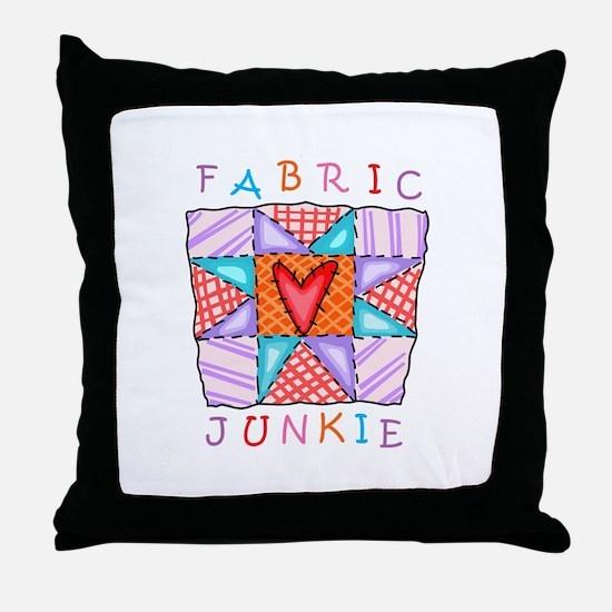 Fabric Junkie Throw Pillow