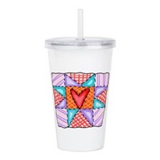 PATCHWORK QUILT Acrylic Double-wall Tumbler