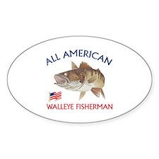 AMERICAN WALLEYE FISHERMAN Decal