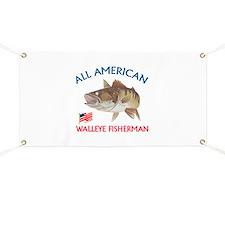 AMERICAN WALLEYE FISHERMAN Banner