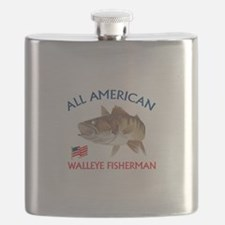 AMERICAN WALLEYE FISHERMAN Flask