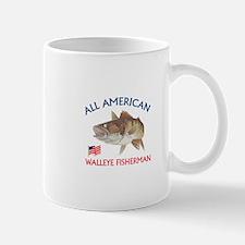 AMERICAN WALLEYE FISHERMAN Mugs