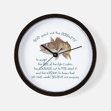 A FISHERMANS PRAYER Wall Clock
