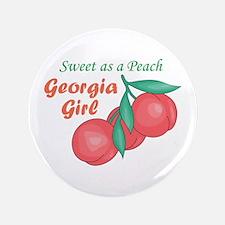 """Sweet As A Peach Georgia Gire 3.5"""" Button"""