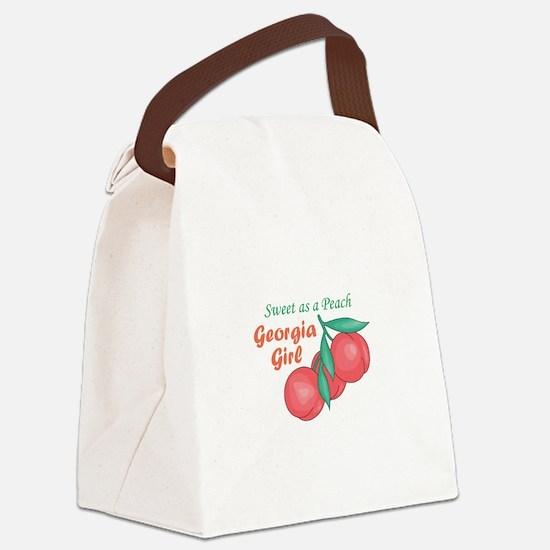 Sweet As A Peach Georgia Gire Canvas Lunch Bag