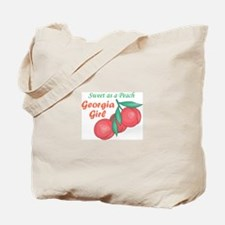 Sweet As A Peach Georgia Gire Tote Bag