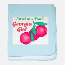 Sweet As A Peach Georgia Gire baby blanket