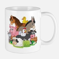 Cartoon Farm Animals Mug