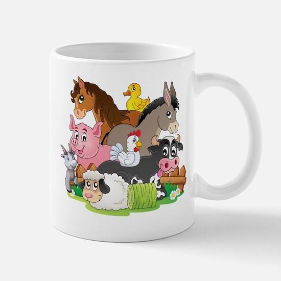 Cartoon Farm Animals Mug