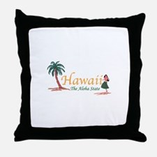 Hawaii The Aloha State Throw Pillow