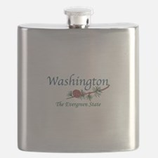 Washington The Evergreen State Flask