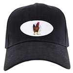 Red Broiler Rooster Black Cap