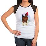 Red Broiler Rooster Women's Cap Sleeve T-Shirt