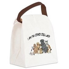 I Am the Crazy Dog Lady Canvas Lunch Bag