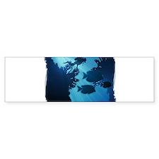 Underwater Blue World Fish Scuba Bumper Bumper Sticker