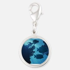 Underwater Blue World Fish Scuba Diver Charms