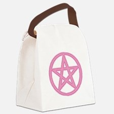 Puffy Pink Pentagram Canvas Lunch Bag
