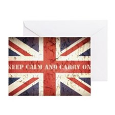 Unique Union jack flags Greeting Card