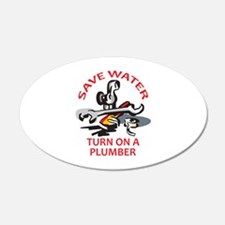 TURN ON A PLUMBER Wall Decal