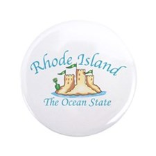 "Rhode Island The Ocean State 3.5"" Button"