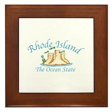 Rhode Island The Ocean State Framed Tile