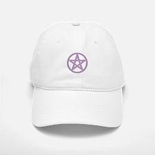 Lilac Puffy Pentagram Baseball Cap
