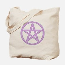 Lilac Puffy Pentagram Tote Bag