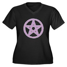 Lilac Puffy Pentagram Plus Size T-Shirt