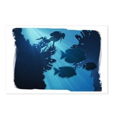 Underwater Blue World Fis Postcards (Package of 8)