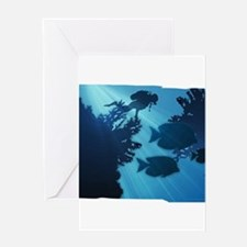 Underwater Blue World Fish Scuba Greeting Cards