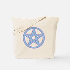Pink & Blue Puffy Pentagram Tote Bag