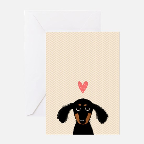 Dachshund Love Card Greeting Cards
