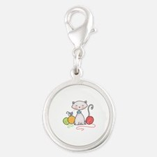 YARN WITH CAT AND MOUSE Charms