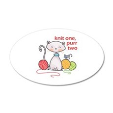 KNIT ONE PURR TWO Wall Decal