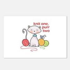 KNIT ONE PURR TWO Postcards (Package of 8)
