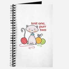KNIT ONE PURR TWO Journal