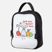 KNIT ONE PURR TWO Neoprene Lunch Bag