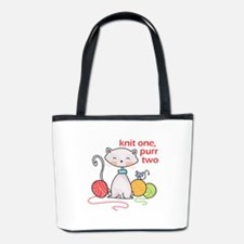 KNIT ONE PURR TWO Bucket Bag