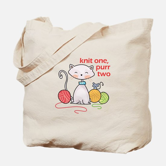 KNIT ONE PURR TWO Tote Bag