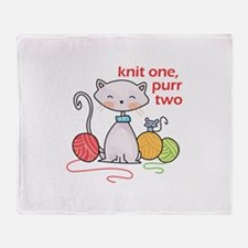 KNIT ONE PURR TWO Throw Blanket